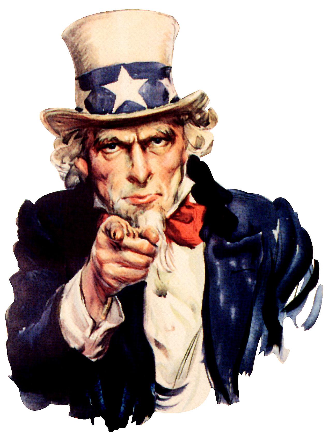 File:Uncle Sam (pointing finger).jpg - Uncle Sam I Want You PNG