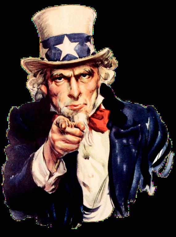 File:Uncle Sam (pointing finger).png - Uncle Sam I Want You PNG