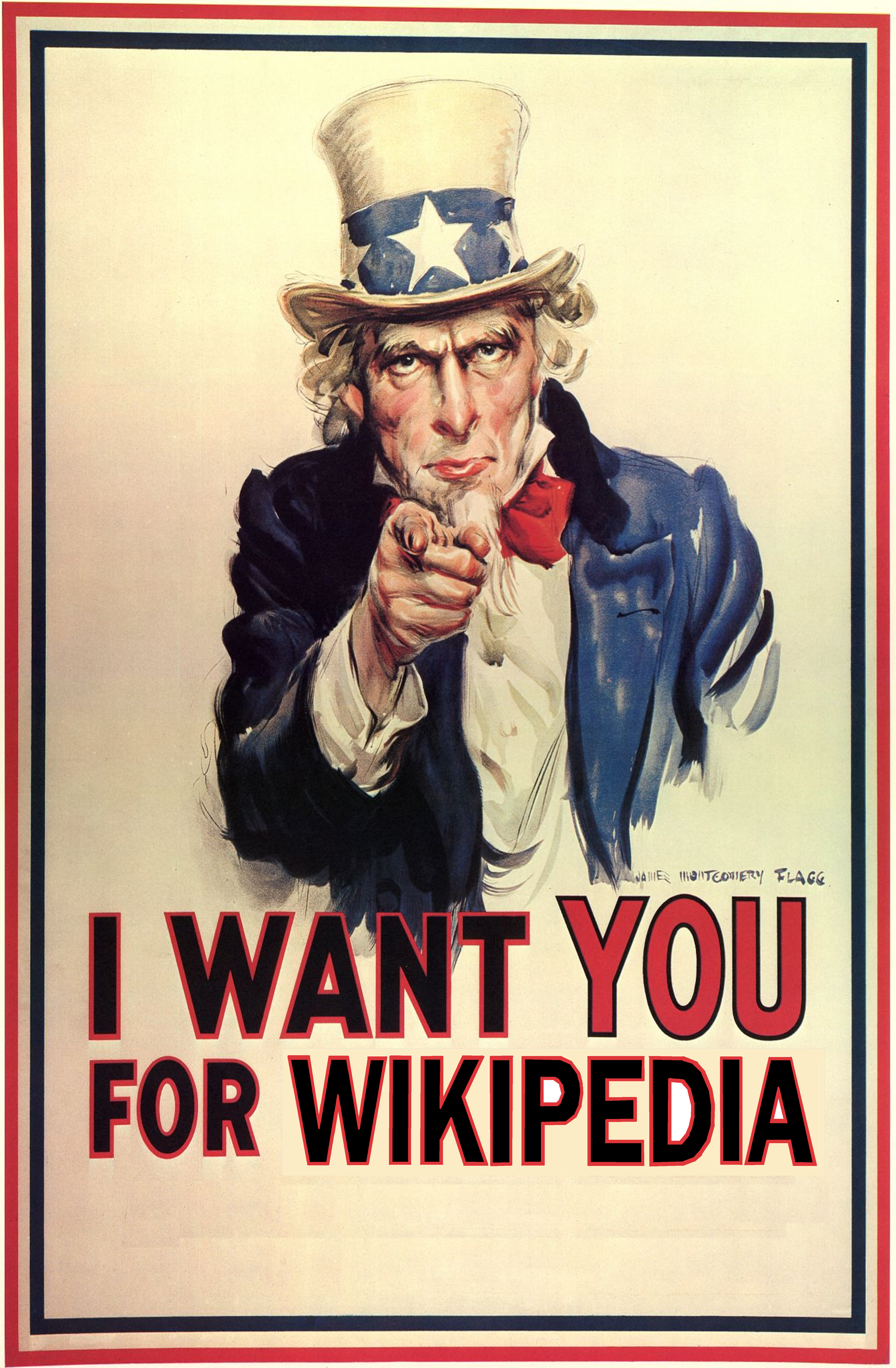 File:Uncle Sam Wikipedia.png - Uncle Sam I Want You PNG