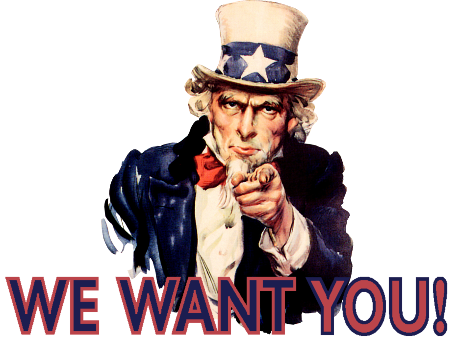 pin Uncle Sam clipart we need you #13 - Uncle Sam I Want You PNG