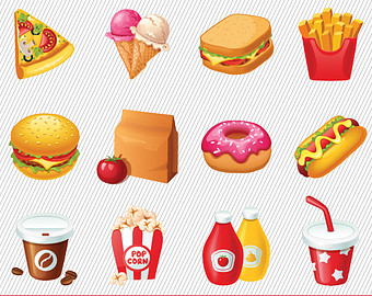 Top 82 Food Clip Art - Unhealthy Foods For Kids PNG