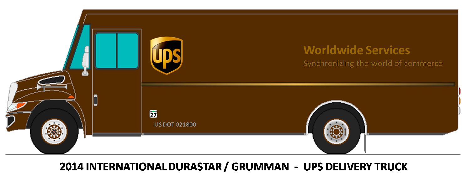 Ups truck clipart - United Parcel Service PNG