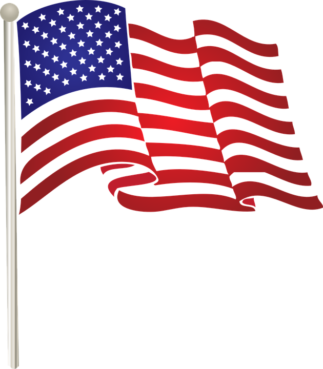 Flag, United, States, American, Waving, Us - United States Of America PNG HD