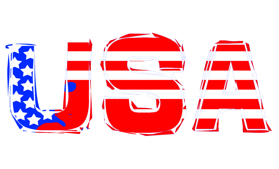 usa america united states national letters text - United States Of America PNG HD