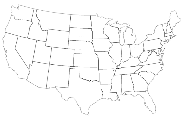 File:United States Administrative Divisions Blank.png - United States PNG