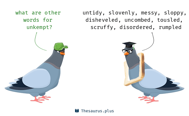 Synonyms for unkempt