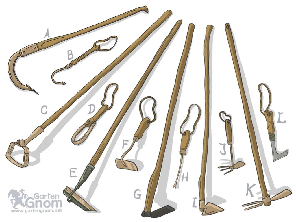 Werkzeuge zum Jäten und Lockern - Unkraut Jaten PNG