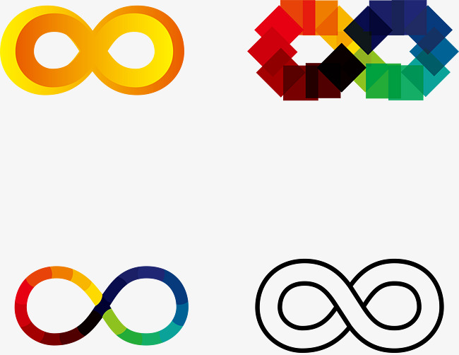 unlimited color vector symbols, Vector Creative Digital 8, Infinity Symbol,  Color Symbol PNG - Unlimited PNG