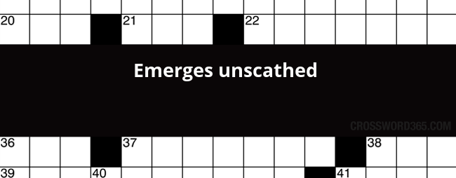 Below you will be able to find the answer to Emerges unscathed crossword  clue which was last seen on New York Times Crossword, November 17 2017. - Unscathed PNG