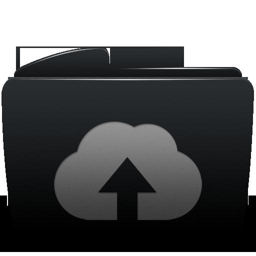 Black, Folder, Upload, Web Icon - Upload PNG