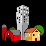 Rural, Suburban, and Urban - Urban And Rural PNG