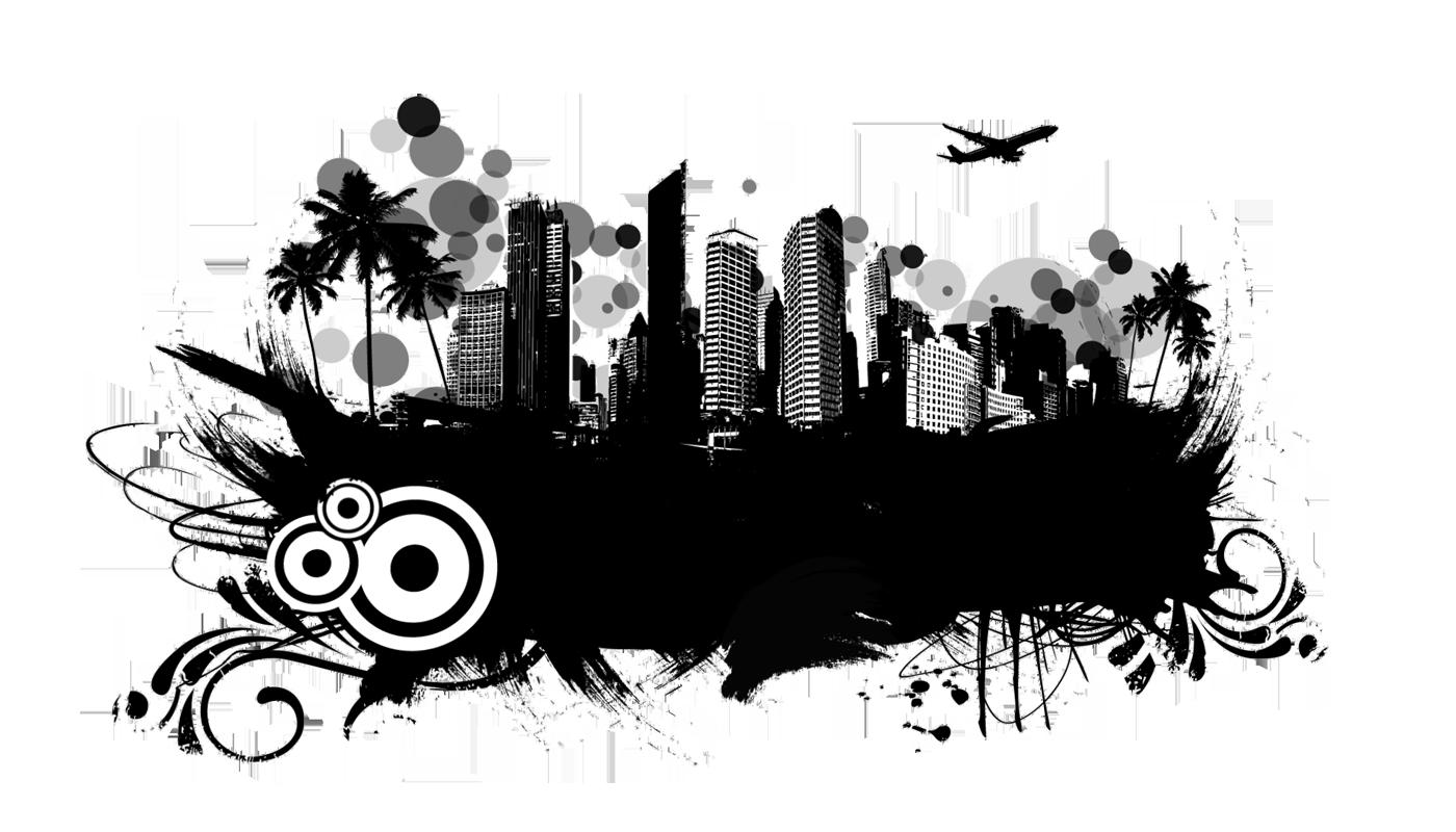 Grunge Urban Graphic 02 - Urban City PNG