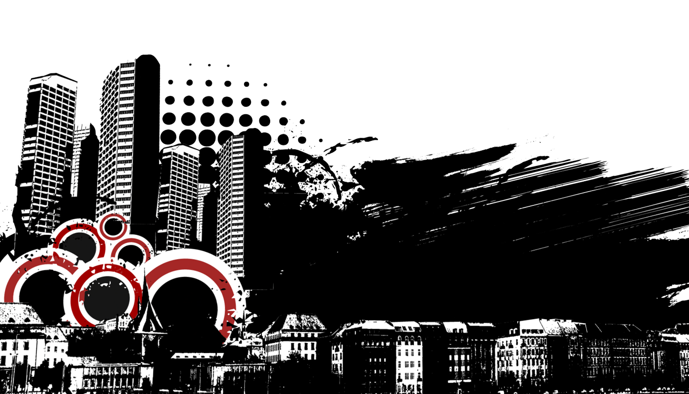Grunge Urban Graphic 05 - Urban City PNG
