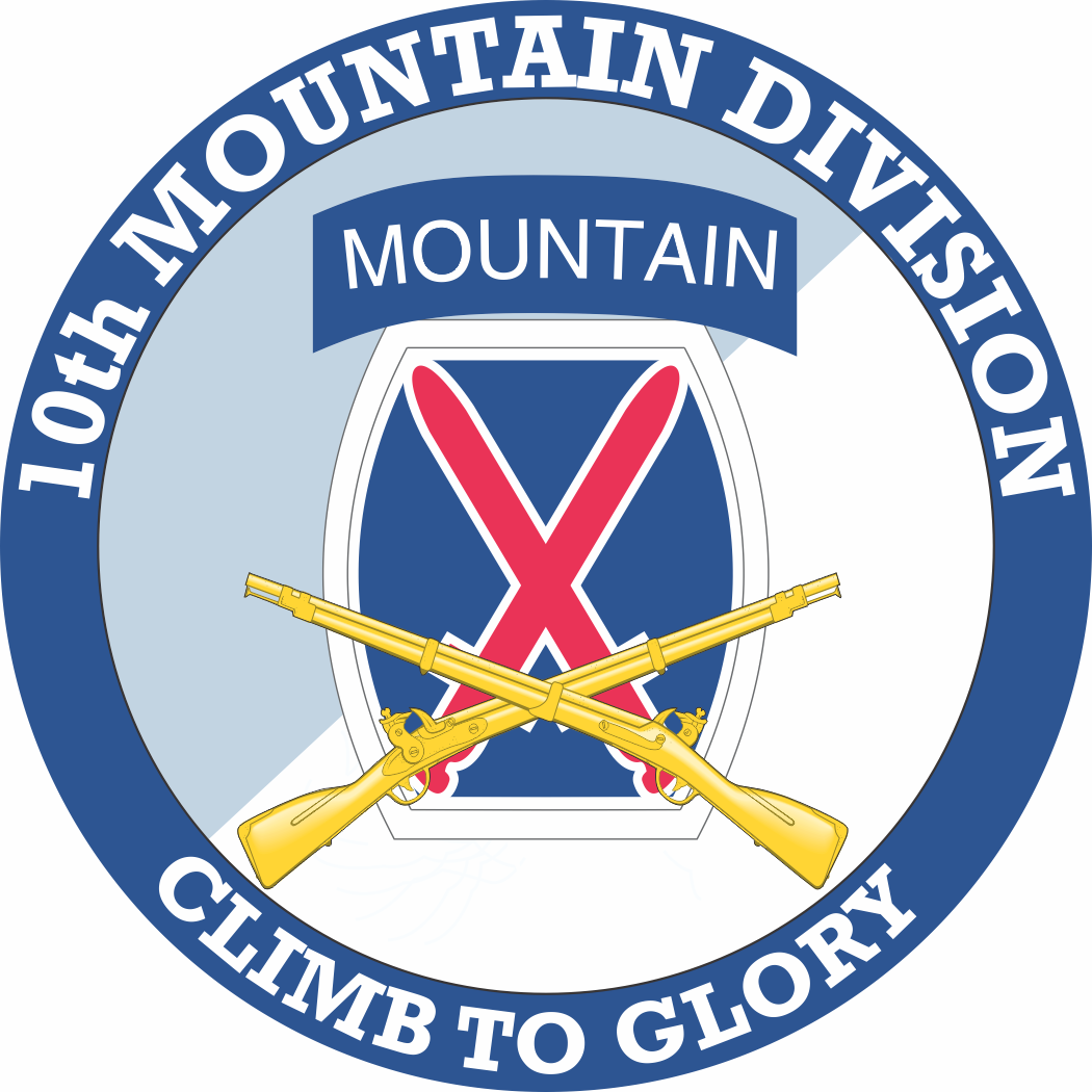 10th Mountain Division with Crossed Rifles Decal - Us Army Infantry Crossed Rifles PNG
