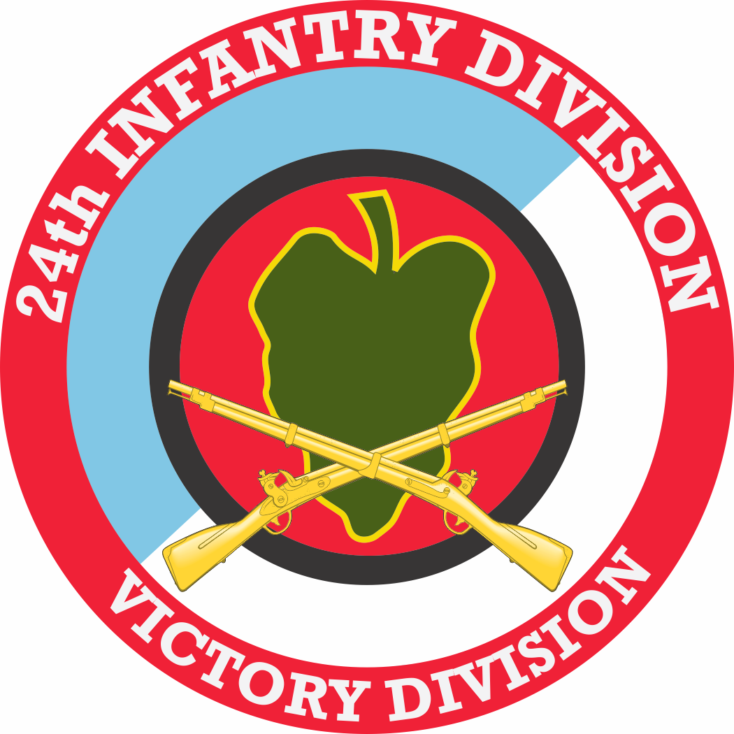 24th Infantry Division with Crossed Rifles Decal - Us Army Infantry Crossed Rifles PNG