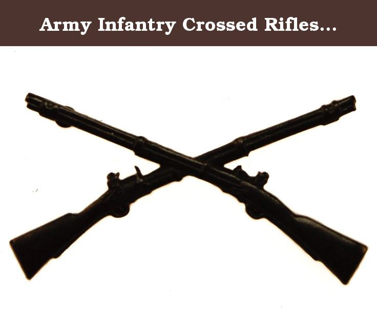 Army Infantry Crossed Rifles Black Hat Or Lapel Pin HON15976. Infantry Is  The Branch Of - Us Army Infantry Crossed Rifles PNG