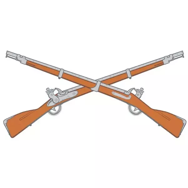 Cross Rifles Have Been The Symbol Of The Infantry Branch Of The US Army - Us Army Infantry Crossed Rifles PNG