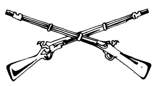 crossed-rifles branch insignia of the U.S. Army Infantry PlusPng.com  - Us Army Infantry Crossed Rifles PNG