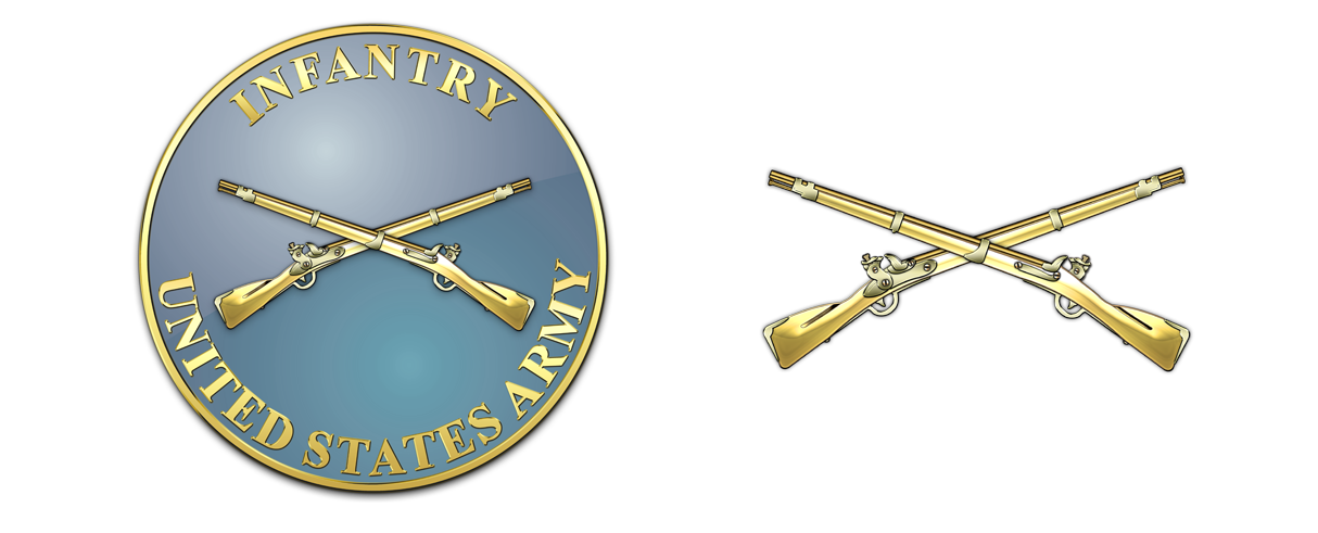 Infantry - US Army - Us Army Infantry Crossed Rifles PNG