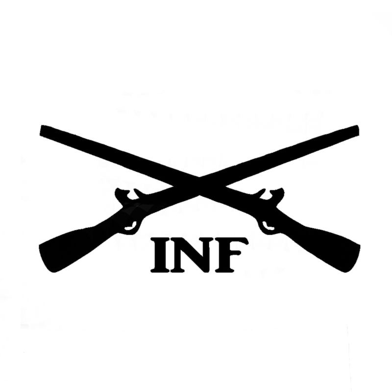 Wholesale 10pcs/lot 20pcs/lot Infantry Crossed Rifles Vinyl Decal Army Inf  Car Window - Us Army Infantry Crossed Rifles PNG