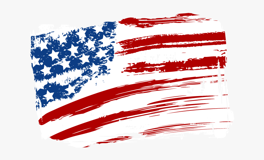 Flag Of The United States Independence Day - Us Flag Painting Png Pluspng.com  - Us Independence Day PNG