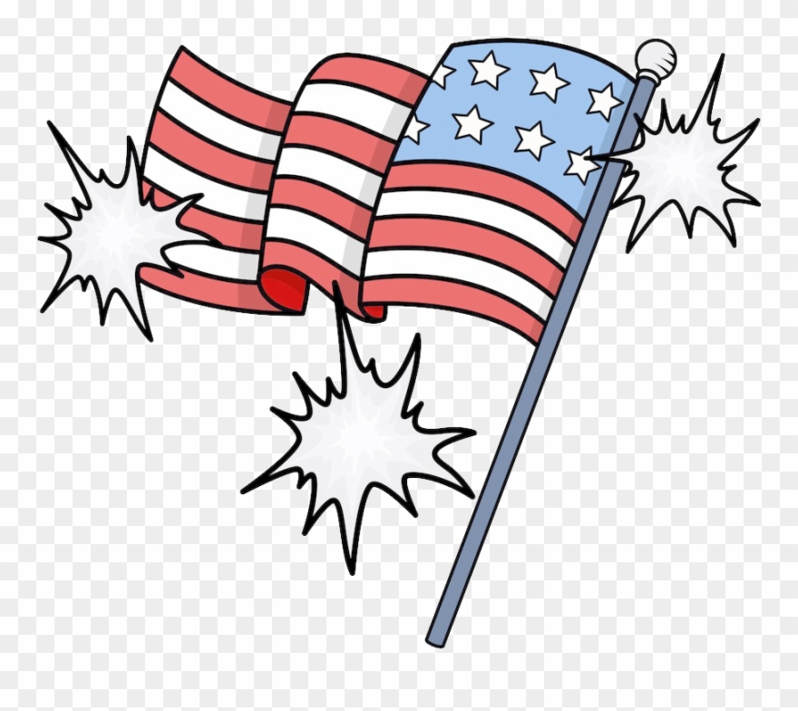 Of The United States Independence Day Clip - Us Flag Cartoon Png Pluspng.com  - Us Independence Day PNG