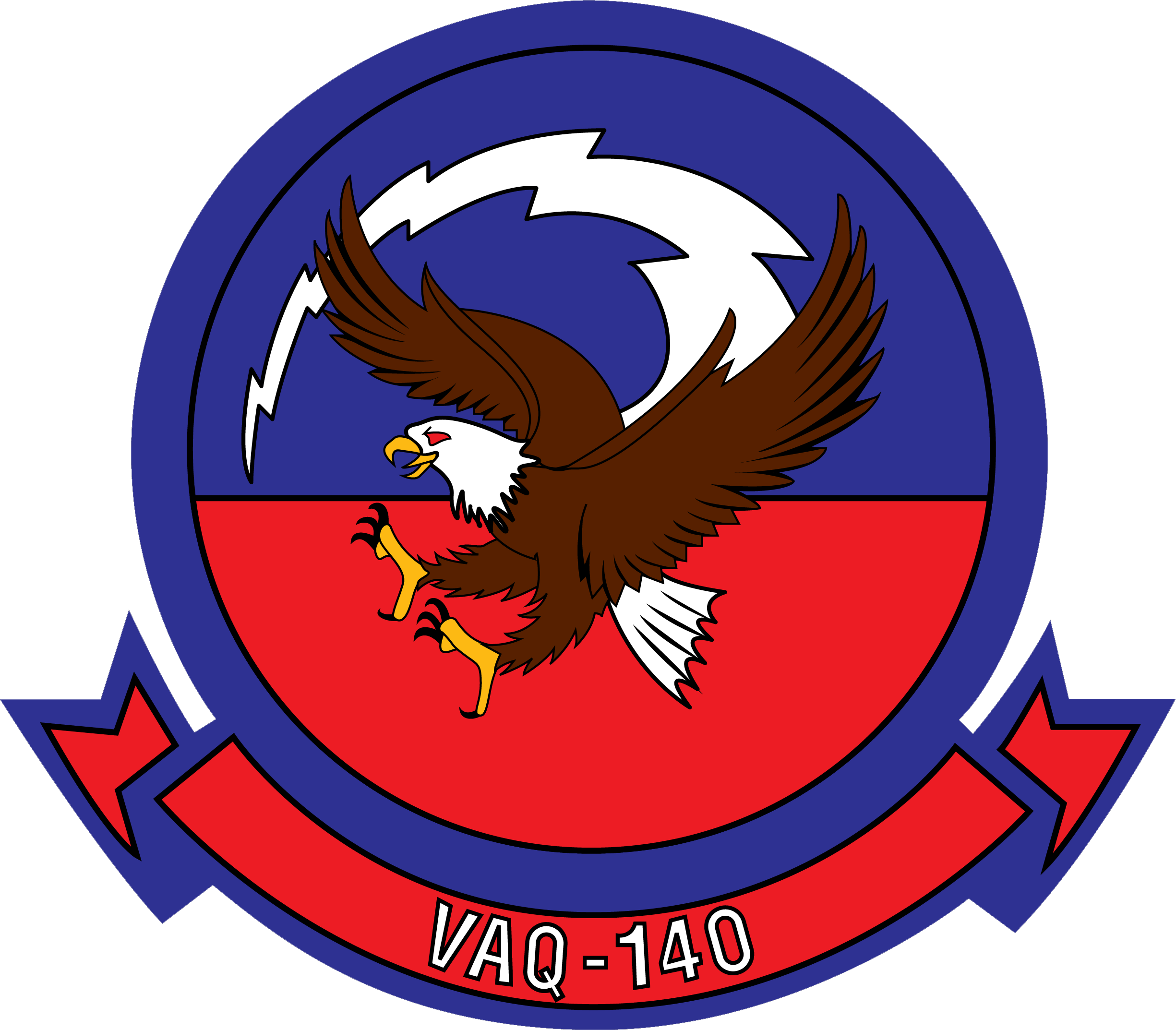 File:Electronic Attack Squadron 140 (US Navy) Insignia 2015.png - Us Navy PNG