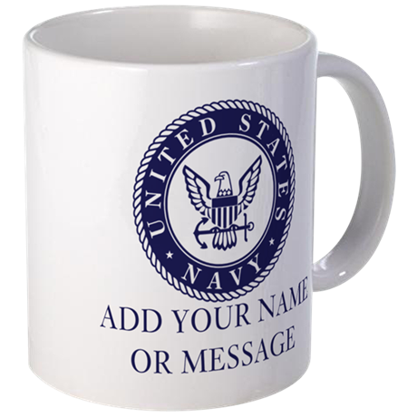 Personalized U.S. Navy Blue Mug Mug - Us Navy PNG