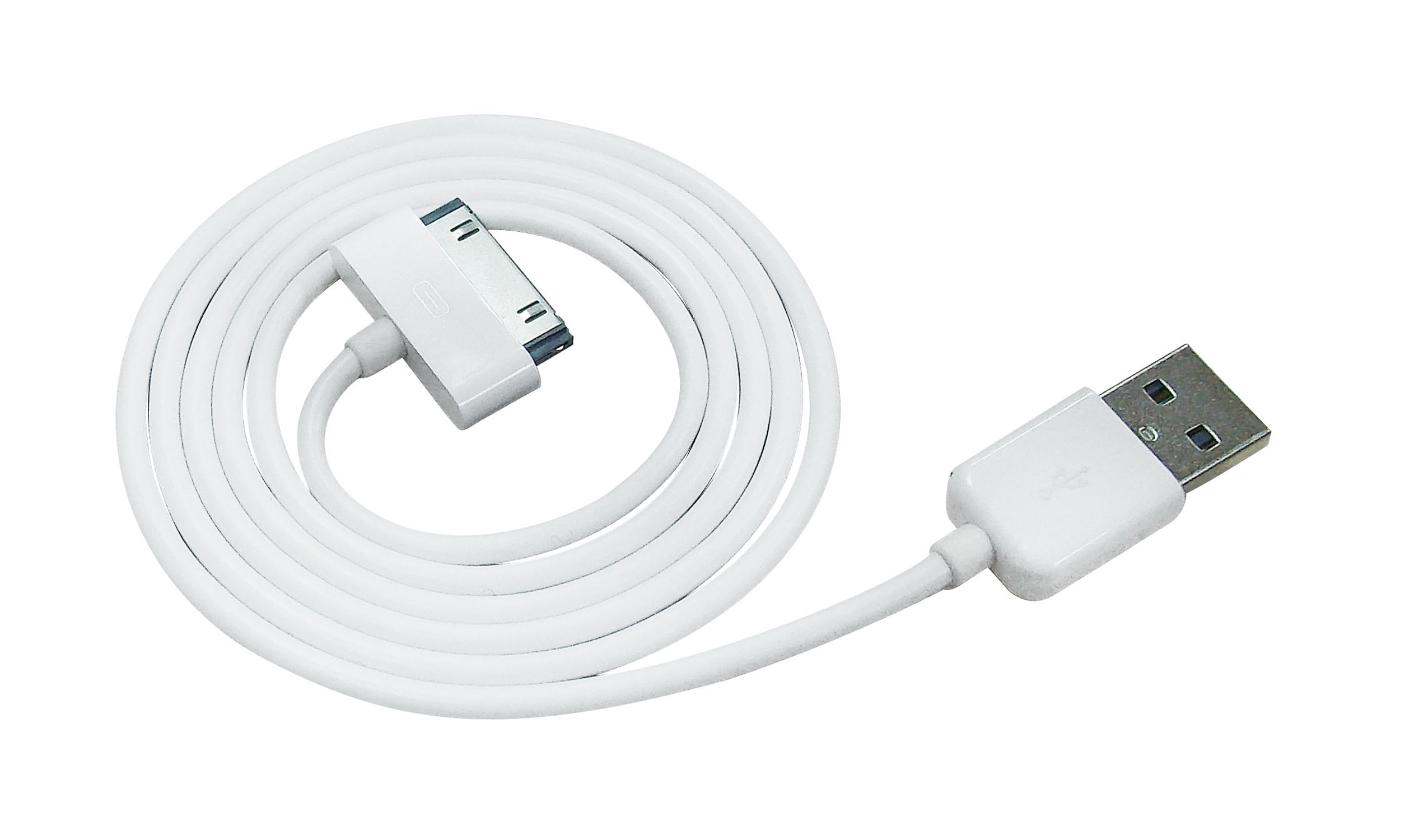 Azuri USB cable - white - for Apple iPhone - Usb Cord PNG