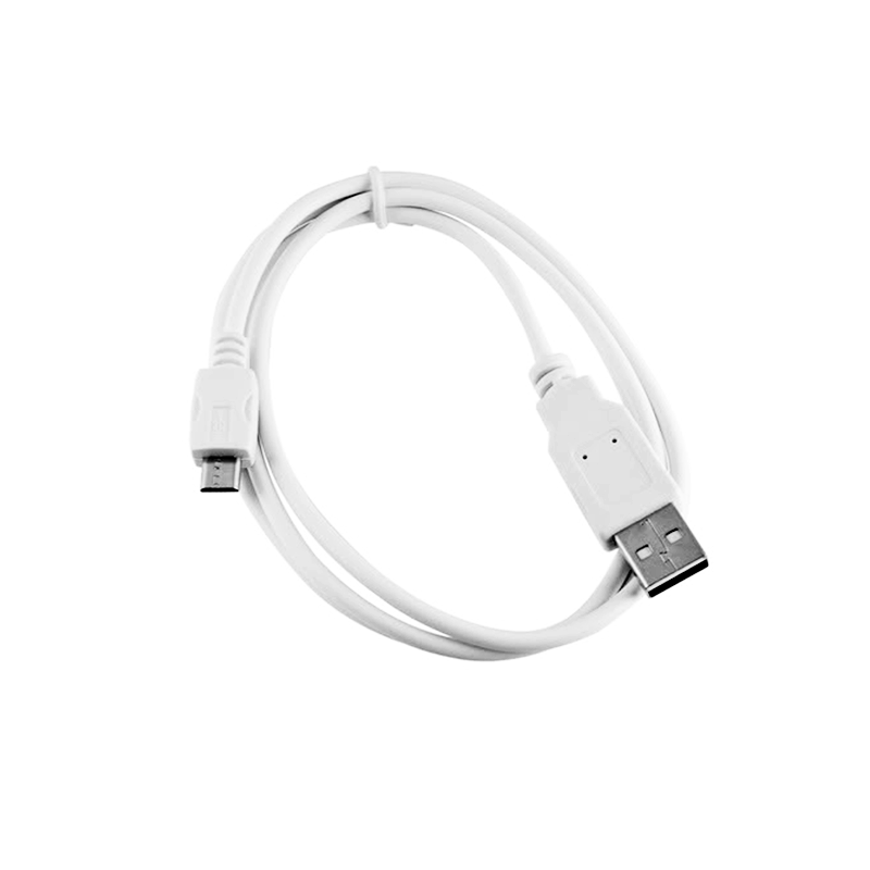white micro usb cable PlusPng.com  - Usb Cord PNG