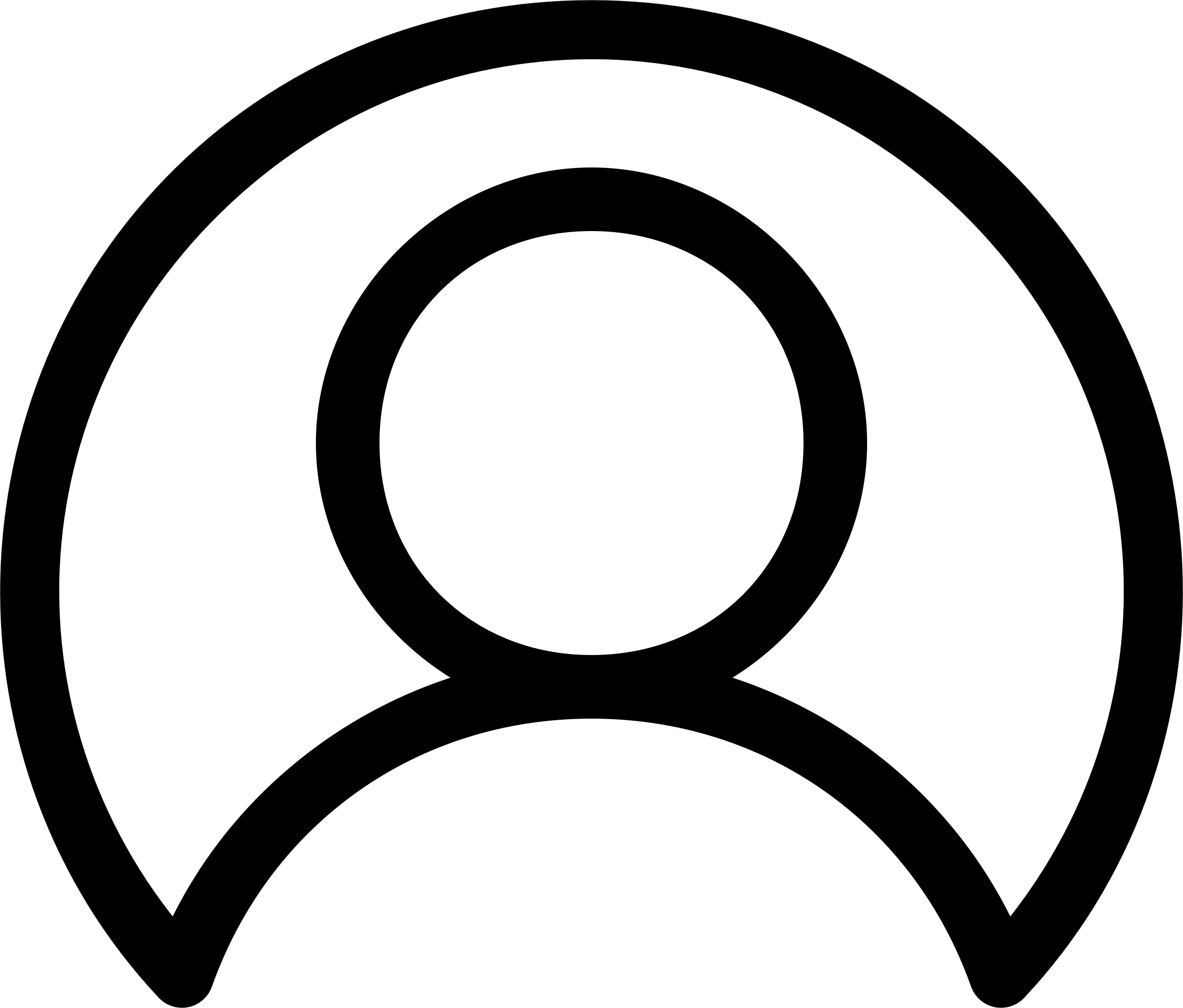 Thin Line User Icon - User PNG Icon