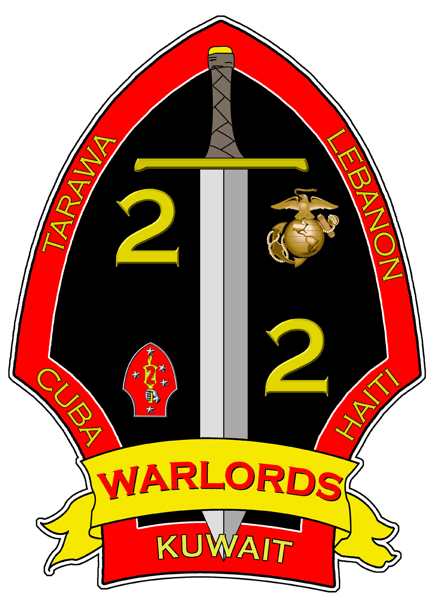 File:2nd battalion 2nd Marines Logo.png - Usmc PNG And Graphics