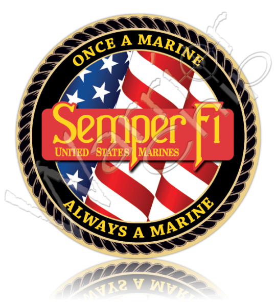 Marine Corps Once a Marine Always a Marine 10779 - Usmc PNG And Graphics
