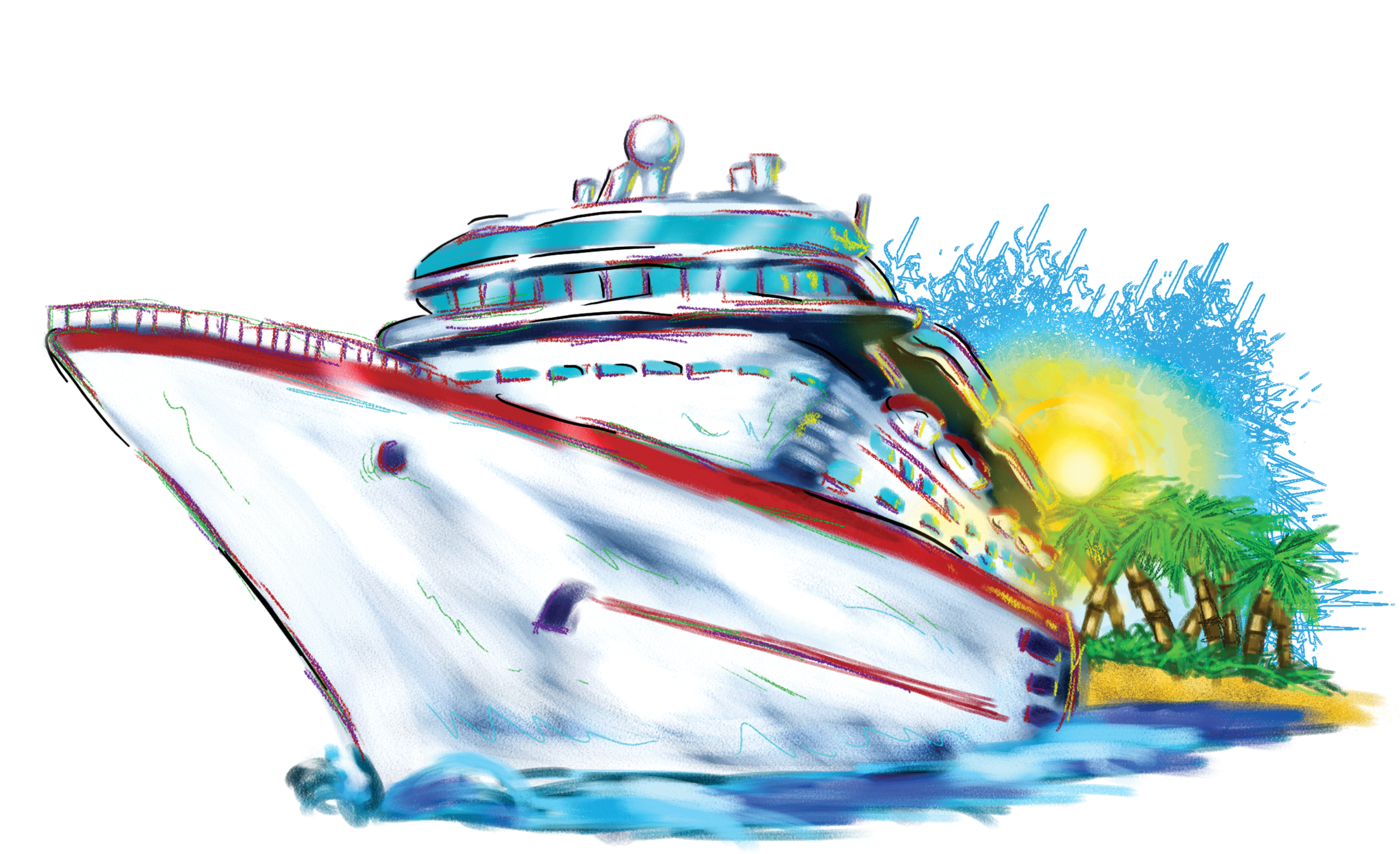 Vacation Cruise Ship The - Cruise Ship PNG