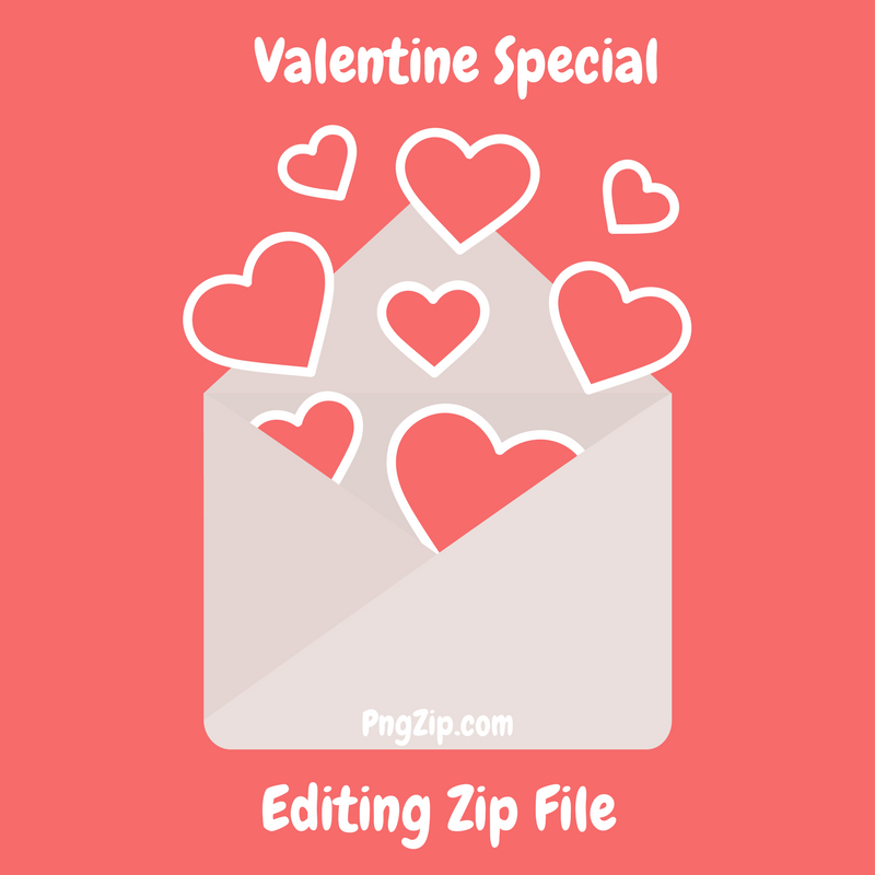 Download HD Valentine Day Editing PNG Zip 2018 Love Png - Valentine PNG HD
