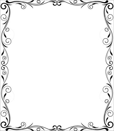 Flourish Frame Vector Design - Vector Frame PNG