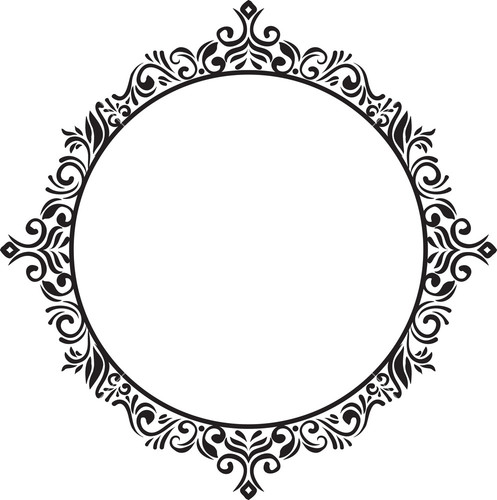 Frame Floral Vector Element - Vector Frame PNG
