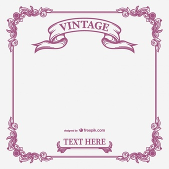 Vintage calligraphic frame vector - Vector Frame PNG