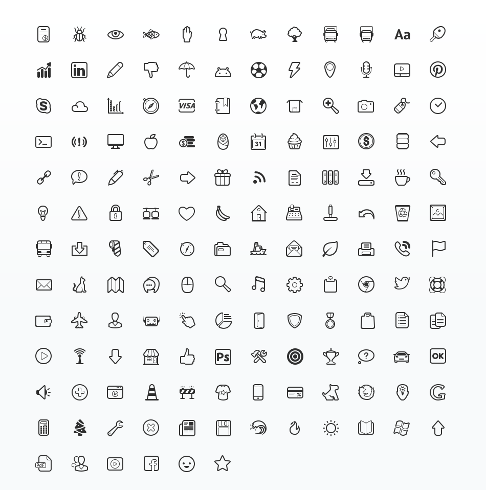 Simplicity Vector Icon Set - Vector Icon PNG