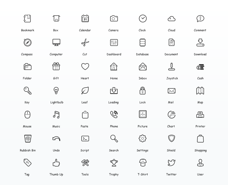 Simplicity Vector Icon Set - A set of 60  free icons in PNG and PSD - Vector Icon PNG