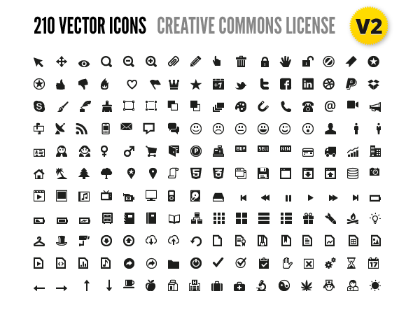 210 Vector Icons for Wireframes   Web Design - Vector Icons PNG