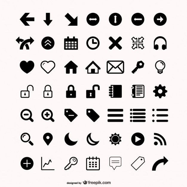Assorted icons set Free Vector - Vector Icons PNG