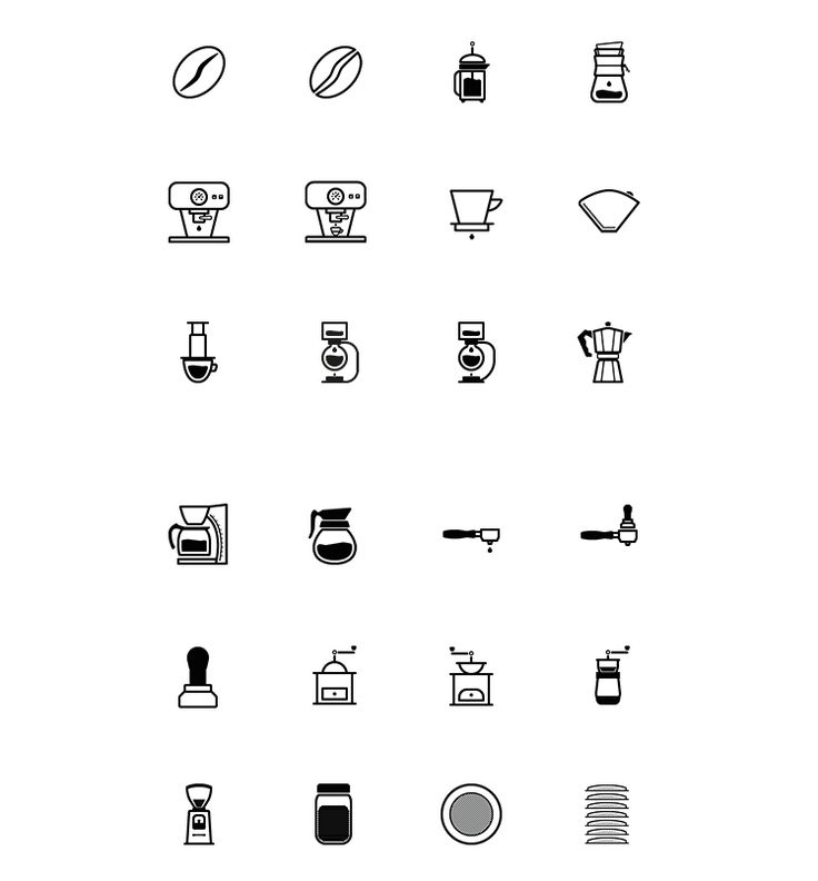 Barista And Coffee Lovers Icon Set Icons Coffee EPS Free Graphic Design Icon  PNG Resource SVG - Vector Icons PNG