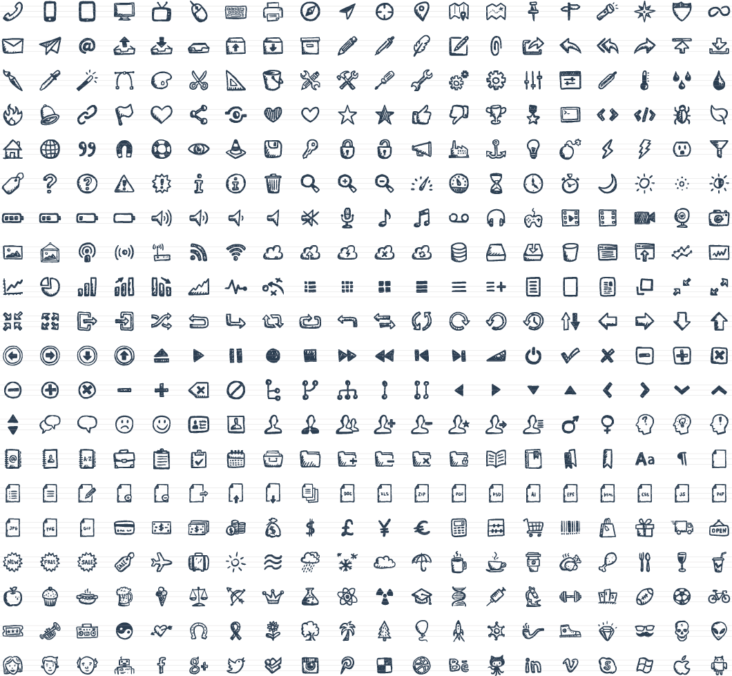 . PlusPng.com Jolly Icons u2013 400 Hand-Drawn Vector Icons - Vector Icons PNG