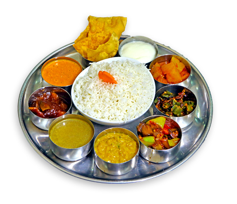 Exotic Tastes of India from Thali to Tandoori - Veg Thali PNG