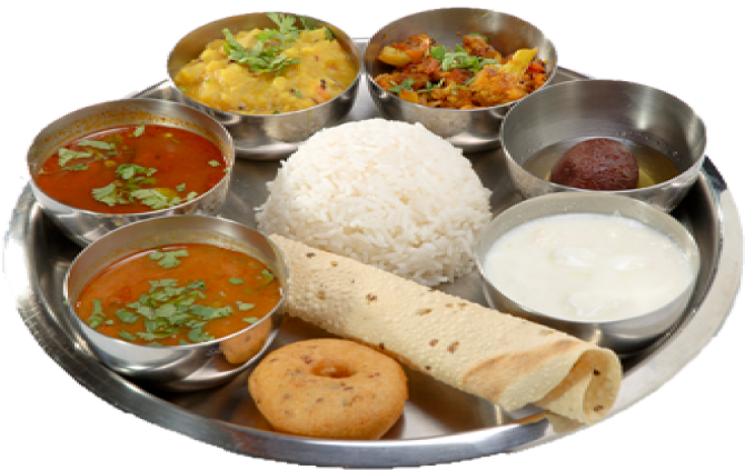 Home Cooked Veg Mini Meal(Min. 2 orders) | GrabMealz, Miyapur, Hyderabad - Veg Thali PNG