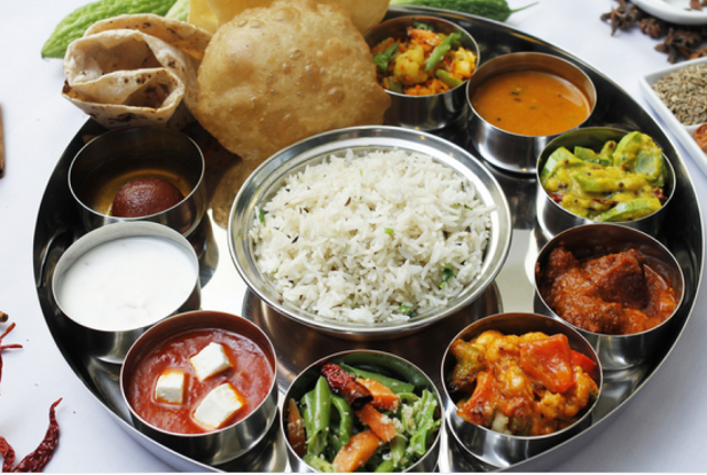 Radheys for Keshav Thali, Chole Bhatura and Paneer Tikka - Veg Thali PNG
