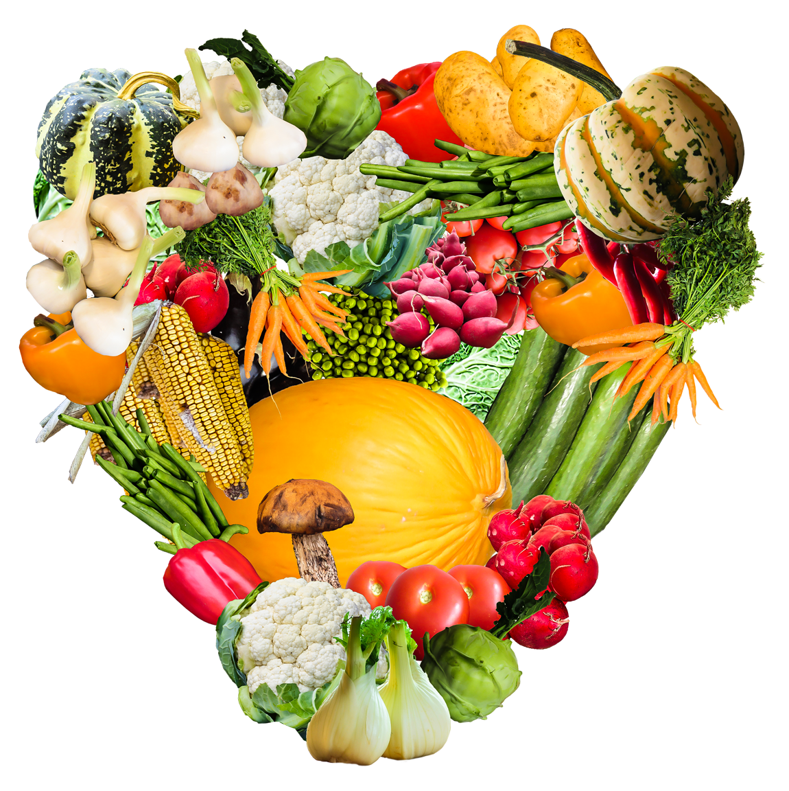 Heart Vegetables PNG Transparent Image - Vegetable PNG