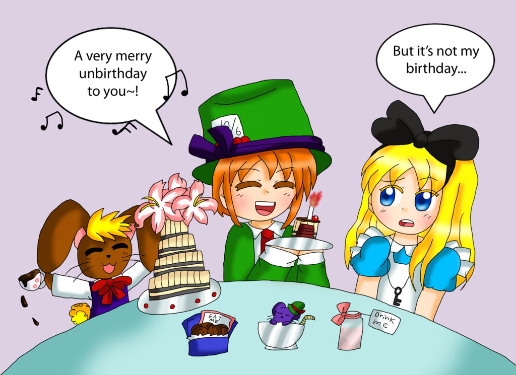 A Very Merry Unbirthday by purplemagechan PlusPng.com  - Very Merry Unbirthday PNG