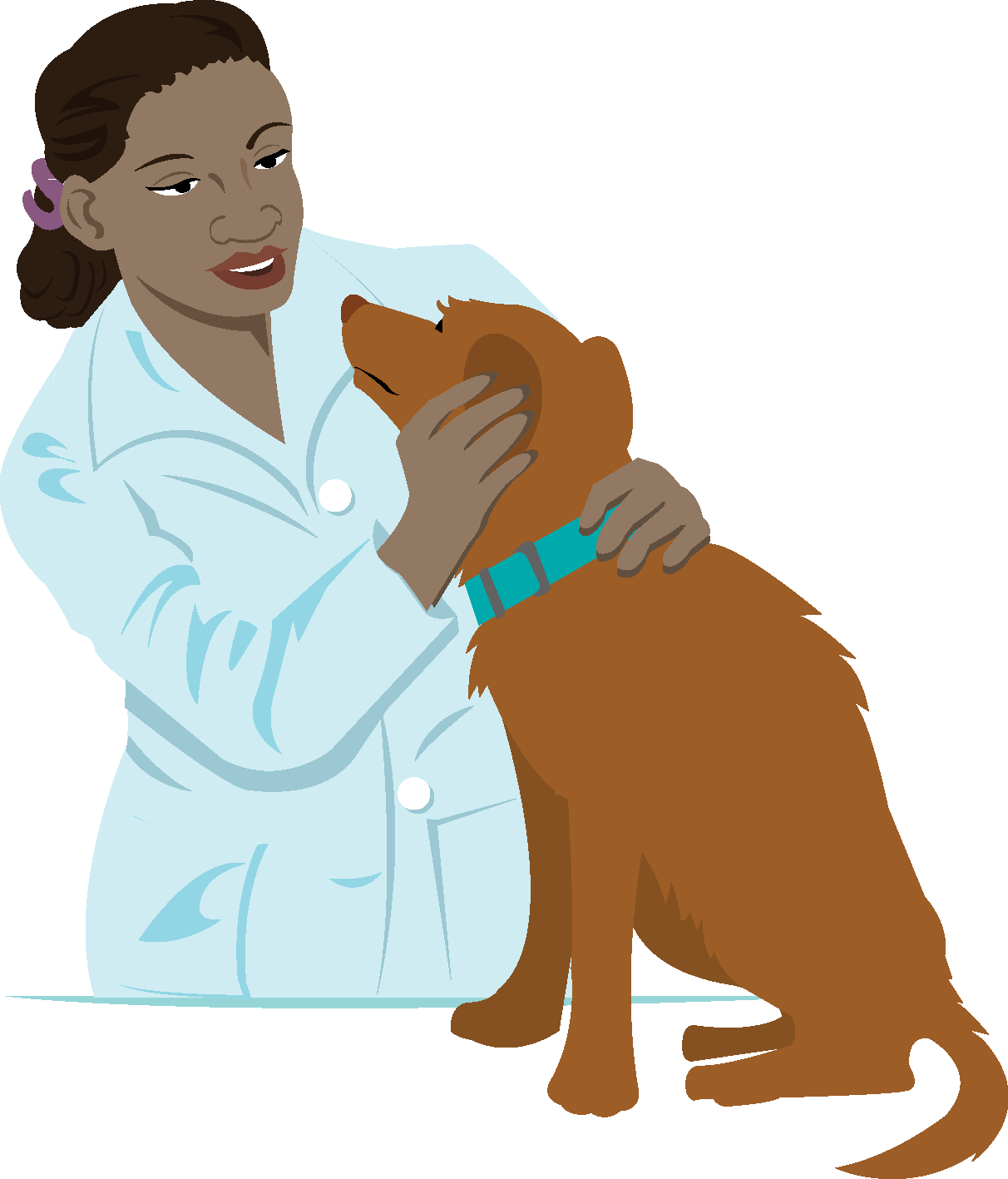dog lady people pets veterinarian clipart - Vet Assistant PNG